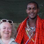 Kenneth, the Masai Naturalist and Cultural Officer and your truly