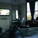..and the view from the bed (wife trying hard not to get in shot)