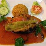 Vegetarian aubergine dish