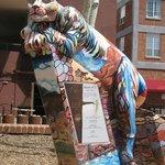 Art sculpture in downtown