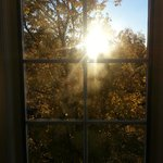 wondrful views  from the  window  of the  fall foliage *