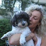 Our lovely host Sue and her dog Bella