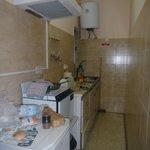 kleine, funktionelle Küche im Appartement