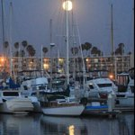 Moonrise at the harbor