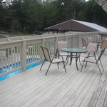 Deck over looking pools
