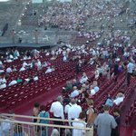 Арена ди Верона. Перед началом оперы Аида.