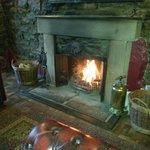 fantastic roaring fire best seats in the house!  love it here!