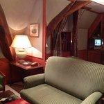 Corner of sitting area of suite.