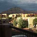 balcony view, storm over mountains w/lightning show!
