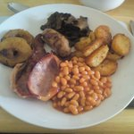 Best fried breakfast ever! The mushrooms are the best I have ever tasted & the apple rings are l