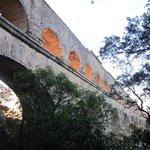 Pont du Garde at dusk