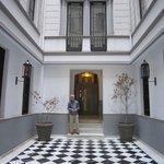 Hotel courtyard/entry.