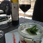 The perfect French wine and tiramisu