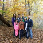 Family with fading fall colors