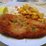 Milanese con patate saltate