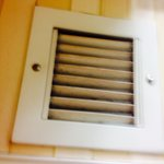 Vent in the queen room bathroom