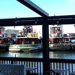 Tug boats viewed from the downstairs pub