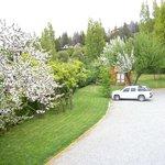 Parque y estacionamiento del hotel