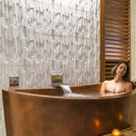 Relaxing in an Ofure, a Japanese Style Jacuzzi