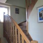 Escalera acceso habitaciones