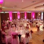 Room set up for wedding
