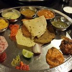 The Thali (Minus the rice preparations as they are served later)