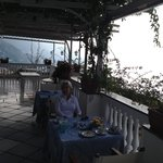 Our breakfast setting overlooking the Sea.