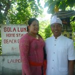 Gede and his beautiful wife