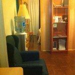 El pequeño salon que había al entrar en la habitación