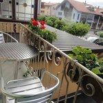 the tiny balcony