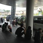 Shuttle Bus stop at Vivo City
