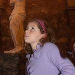 Trying to stand like Venus de Milo ...