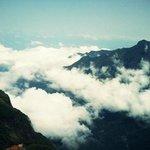 Clouds hover below you when at Mukurti Peak.