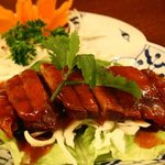 good for main course. Roast duck with tamarind sauce.