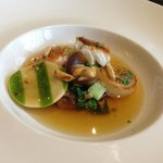 Asian style broth of Scottish fish and shellfish