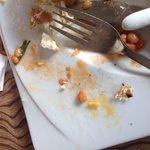 Disgusting egg shells in disgusting Food