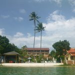 The resort from the sea