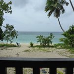 The view from the restaurant- leeward side