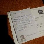 La lettera da parte della signora delle pulizie