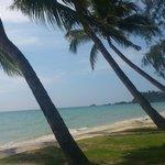 пляж, вид из ресторана
