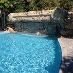 the waterfall pool