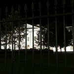 The White House (from the front gates)