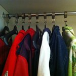 Totlal hangers in the closet for two people