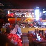 Breakfast inside the Devassa bar, a bit crumped