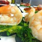 Citrus Shrimp with Cucumber and Seaweed Salad