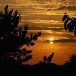 Sonnenuntergang von der Terasse aus