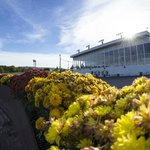 The clubhouse at the harness racetrack.