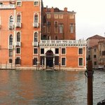 view of the hotel from the opposite side of the grand canal