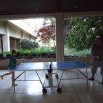 Теннис с дочкой