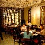 O ambiente do restaurante.